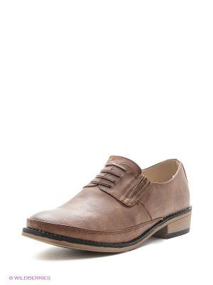 Туфли Aotoria. Цвет: коричневый