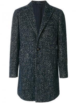Классическое твидовой пальто Tagliatore. Цвет: синий