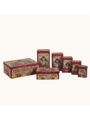 Набор из 7 банок для хранения продуктов Клубничный пирог Orval. Цвет: черный, красный, желтый