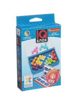 Логическая игра BONDIBON IQ-Блок. Цвет: голубой