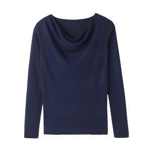 Пуловер с воротником-качелями La Redoute Collections. Цвет: серый меланж,синий морской,фиолетовый,черный