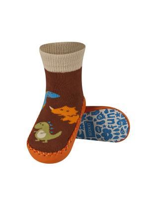 Тапочки-носочки Soxo. Цвет: коричневый, рыжий