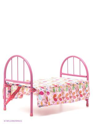 Кроватка для кукол Красотка 1Toy. Цвет: розовый