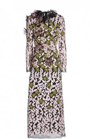 Вечернее платье Giambattista Valli. Цвет: разноцветный