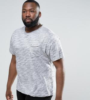 Another Influence Полихроматическая футболка с необработанным краем PL. Цвет: серый