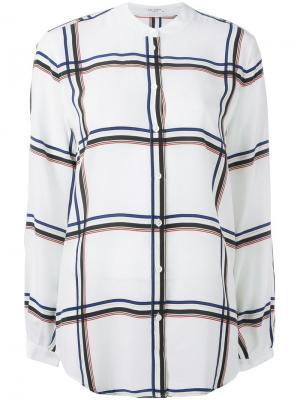 Рубашка без воротника Equipment. Цвет: белый