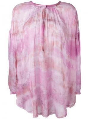 Блузка с узором тайдай Raquel Allegra. Цвет: розовый и фиолетовый