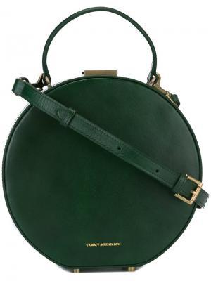 Hatbox tote Tammy&Benjamin. Цвет: зелёный