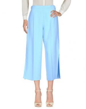 Повседневные брюки ELISABETTA FRANCHI 24 ORE. Цвет: небесно-голубой