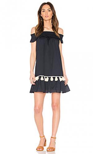Платье gia MISA Los Angeles. Цвет: синий