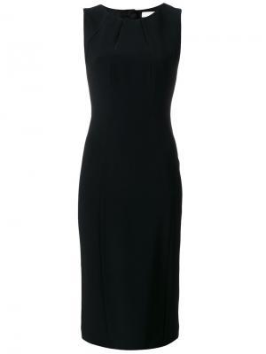 Приталенное платье шифт Mantu. Цвет: чёрный