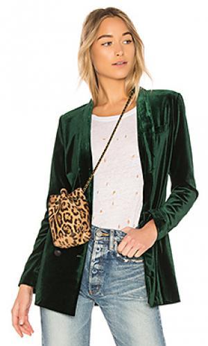 Вельветовая куртка dominante ON PARLE DE VOUS. Цвет: темно-зеленый