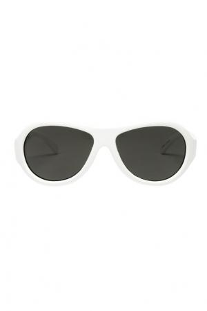 Белые солнцезащитные очки Babiators. Цвет: белый