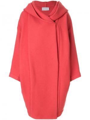 Пальто Xiong  с капюшоном Reality Studio. Цвет: красный