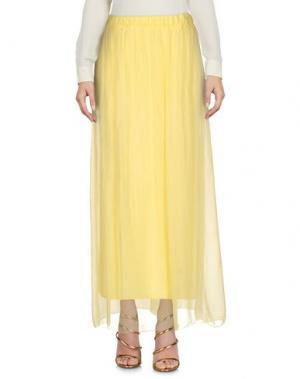 Длинная юбка B.YU. Цвет: желтый
