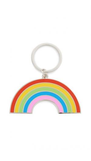 Брелок для ключей с подвеской радужной расцветки Georgia Perry. Цвет: мульти
