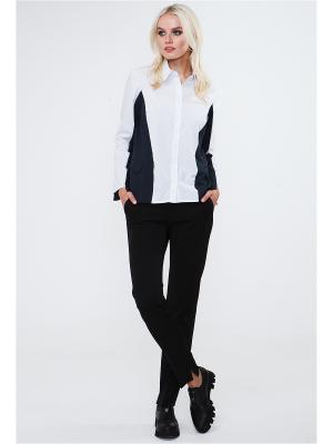 Блуза VICTORIA VEISBRUT. Цвет: белый, темно-серый