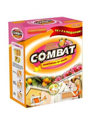 Combat от моли инсектицид (пластины) 10+2. Цвет: коричневый