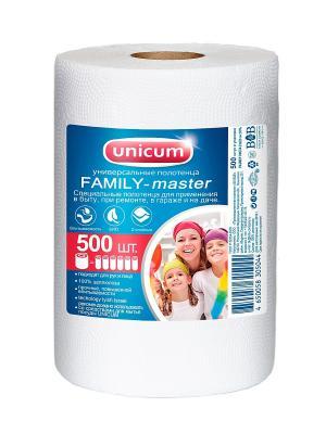 Unicum Универсальные полотенца FAMILY-master 500 шт в рулоне B&B. Цвет: белый