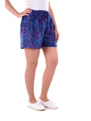 Шорты женские OLBE. Цвет: сливовый, голубой, темно-фиолетовый