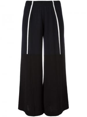 Укороченные брюки с контрастной отделкой Circus Hotel. Цвет: синий