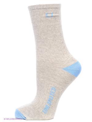 Носки спортивные 3 пары Unlimited. Цвет: серый меланж, голубой