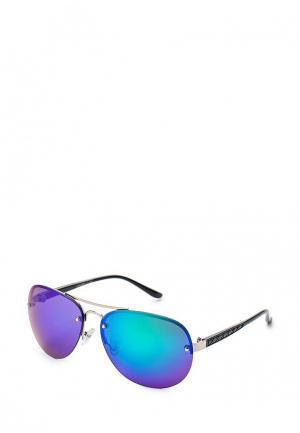 Очки солнцезащитные Diva. Цвет: серебряный