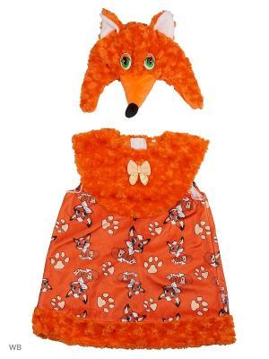 Карнавальный костюм Лисичка Лиля Батик. Цвет: оранжевый