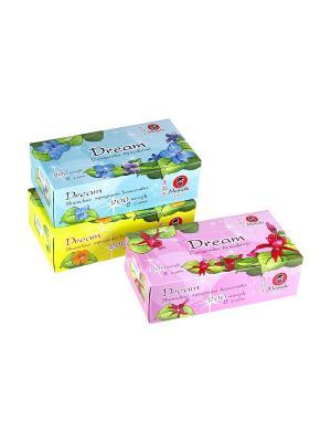 Блок из 3 упаковок бумажных салфеток Dream, 200 шт./упаковка, FT135/1 Maneki. Цвет: белый