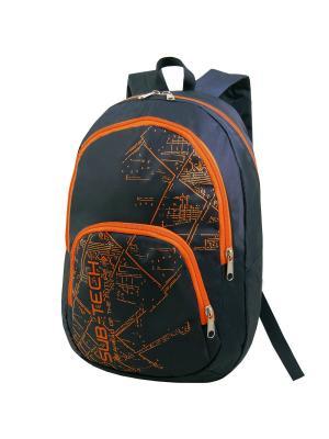 Портфель ученический Stelz. Цвет: черный