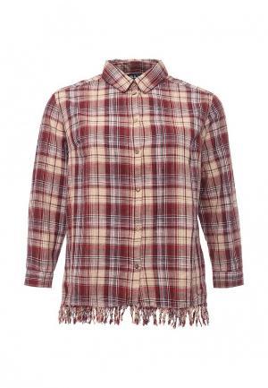 Рубашка Ulla Popken. Цвет: бордовый