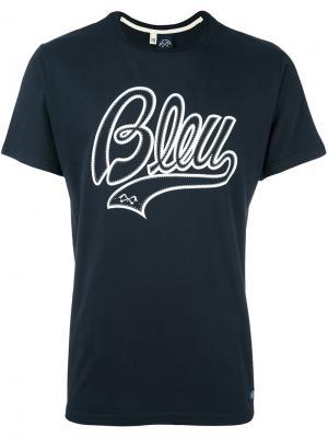 Футболка с принтом Bleu De Paname. Цвет: синий