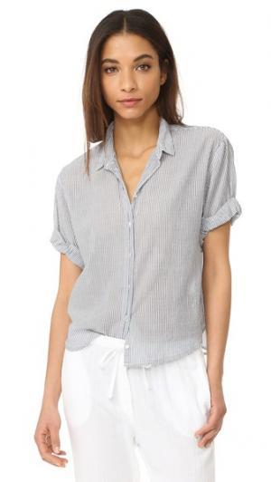 Блуза на пуговицах Chance с короткими рукавами XIRENA. Цвет: насыщенный синий
