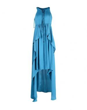 Длинное платье ANNARITA N.. Цвет: цвет морской волны