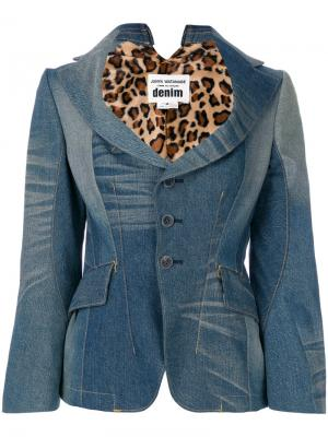 Приталенный джинсовый блейзер Junya Watanabe Comme Des Garçons. Цвет: синий