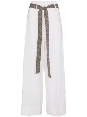 Широкие брюки с контрастными полосками Racil. Цвет: телесный