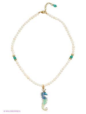 Ожерелье Polina Selezneva. Цвет: белый, бирюзовый, синий