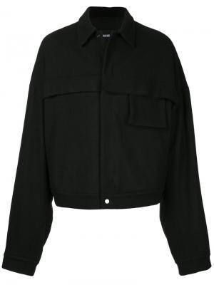 Легкая куртка мешковатого кроя Berthold. Цвет: чёрный