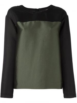 Блузка расцветки колор блок Steffen Schraut. Цвет: зелёный