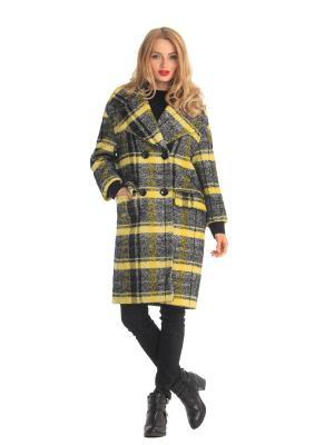 Пальто Artwizard. Цвет: черный, желтый
