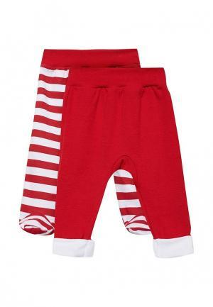 Комплект брюки и ползунки КотМарКот. Цвет: красный