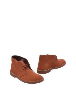 Полусапоги и высокие ботинки CLARKS. Цвет: ржаво-коричневый