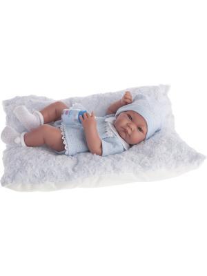 Кукла-младенец Нико (мальчик) в голубом,42см Antonio Juan. Цвет: светло-голубой