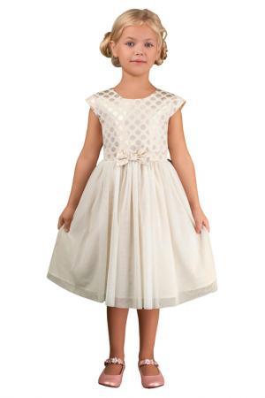 Платье с поясом BOOM. Цвет: белый