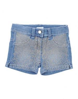 Джинсовые шорты MICROBE. Цвет: синий