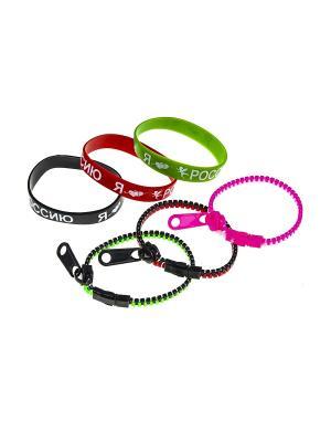Комплект (Браслет - 6 шт.) Happy Charms Family. Цвет: красный, розовый, белый, черный, зеленый
