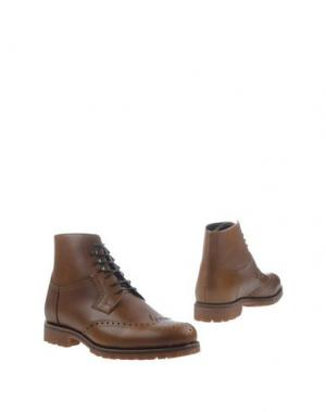 Полусапоги и высокие ботинки BORGIOLI. Цвет: верблюжий