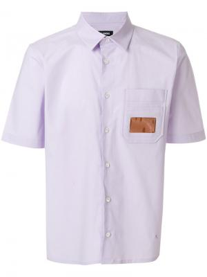Рубашка с накладным карманом Raf Simons. Цвет: розовый и фиолетовый