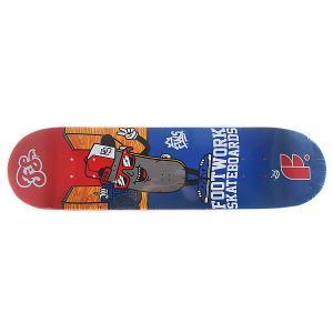 Дека для скейтборда  Original Decky 31.6 x 8 (20.3 см) Footwork. Цвет: синий,мультиколор