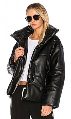 Дутая куртка hide Nanushka. Цвет: черный